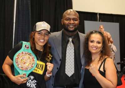 Michelle Lewis and James Toney