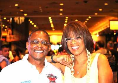 Curtis Hunt and Gayle King