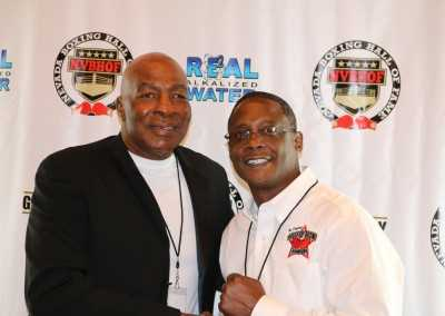 Earnie Shavers and Curtis Hunt