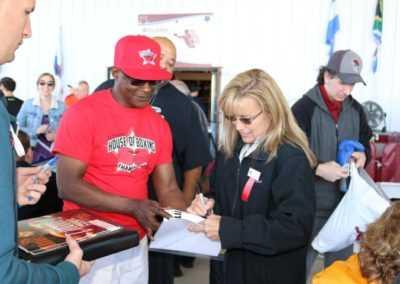Christy Martin sign memorbilia
