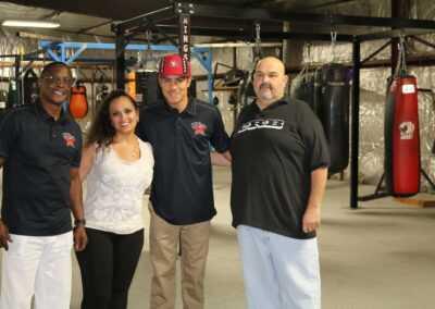 Curtis Hunt, Michelle Lewis, Jessie Vargas and Owner