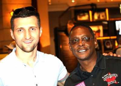 Curtis Hunt and Carl Froch