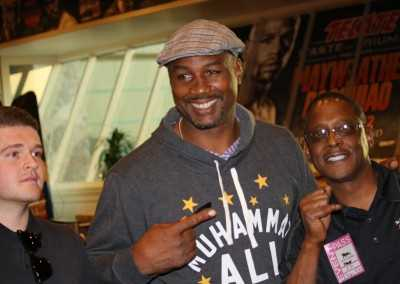 Curtis Hunt and Lennox Lewis