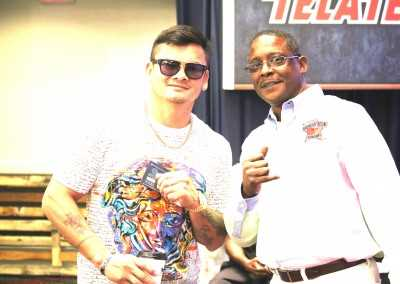 Curtis Hunt and Marcos Maidana