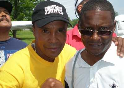 Curtis Hunt and Sugar Ray Leonard