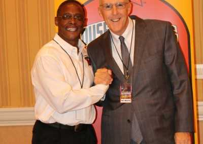 Curtis Hunt and Boxing Journalist Kevin Iole