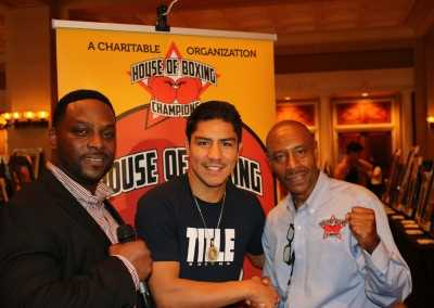 Jessie Vargas and Greg Hunt