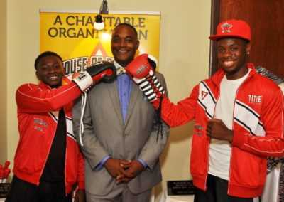 B.H Mayor Tipton Walker Jr and Jermmaine Futrell golden glove champion