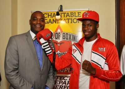 Benton Harbor Mayor and golden glove champion Tipton Walker Jr.