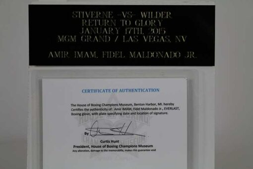 Amir IMAM, Fidel Maldonado Jr.